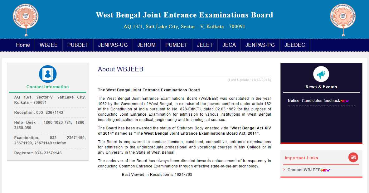 wbjee seat allotment result 2020 1st round
