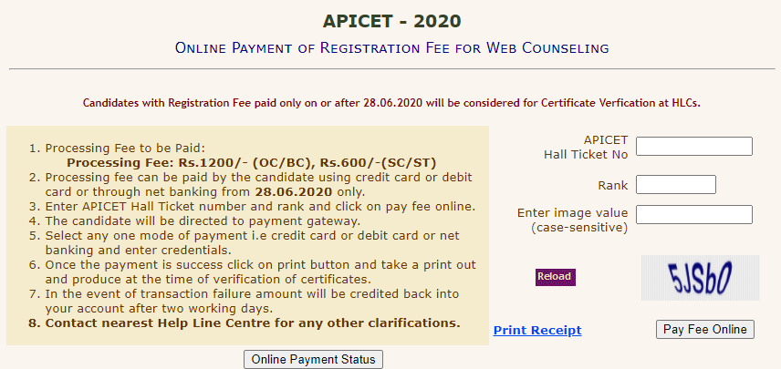 AP ICET Counselling Dates 2020