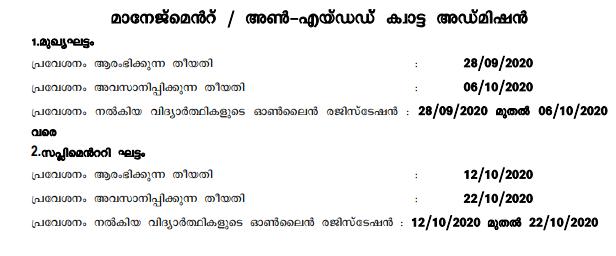 HSCAP Kerala Plus One 2020 Trial Award Result