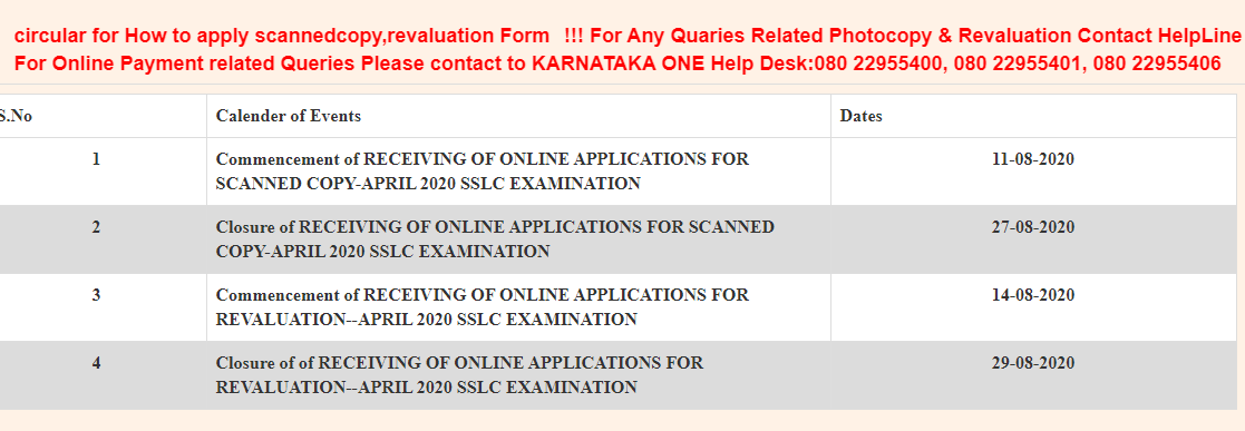 Karnataka SSLC Revaluation Result 2020