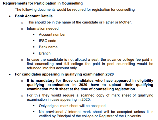 UP B.Ed Counselling Date 2020