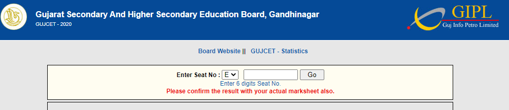 gseb gujcet result