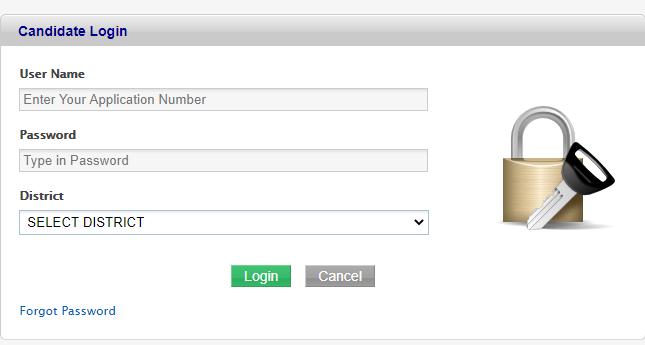 hscap candidate login