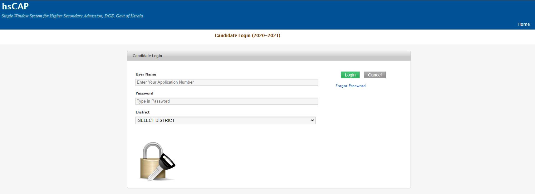 hscap sws candidate login