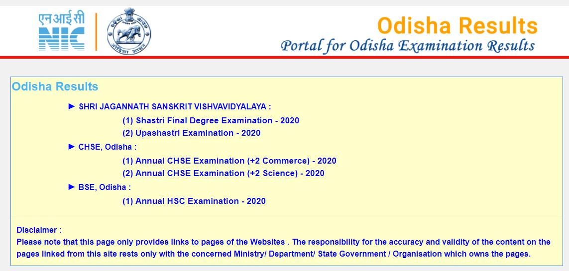 Odisha 12th Arts Results