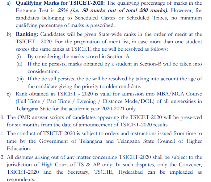 TS ICET Counselling Dates 2020