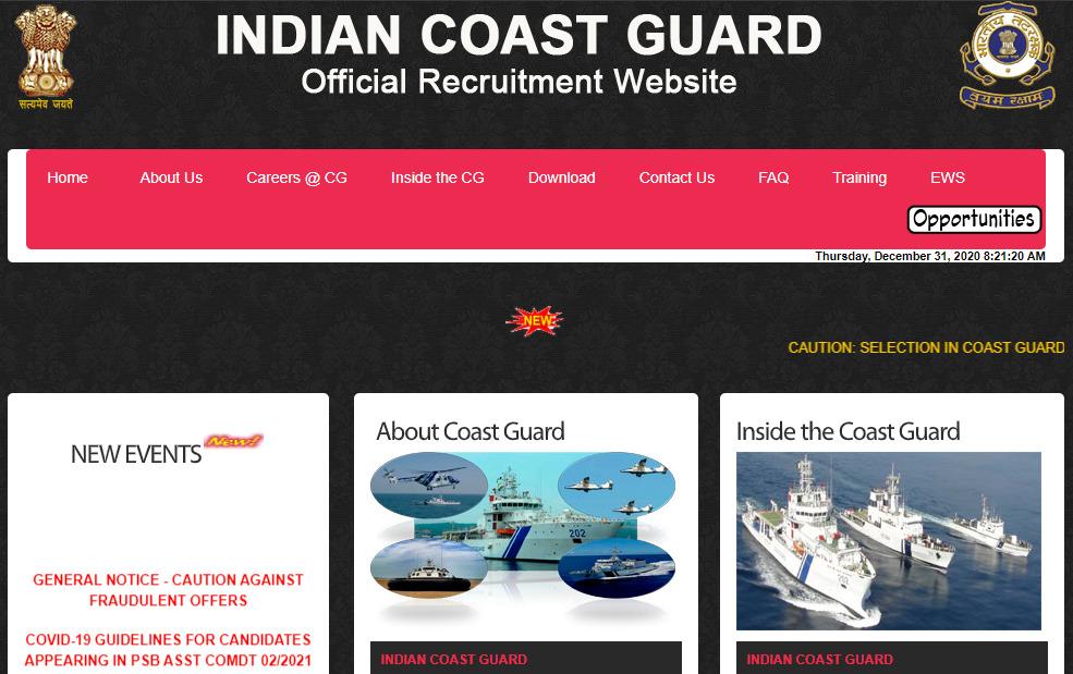 Indian Coast Guard Navik DB Syllabus PDF ICG 01/2021 Exam Pattern