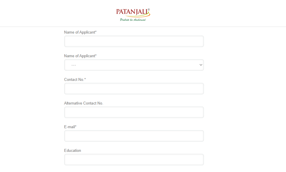 Patanjali Ayurved Recruitment 2021