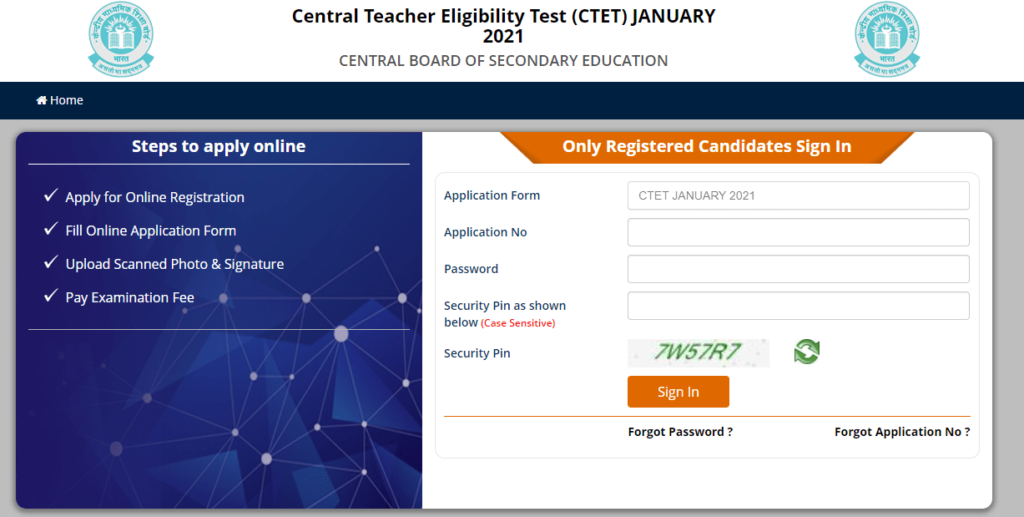 ctet.nic.in Admit Card 2021 Download