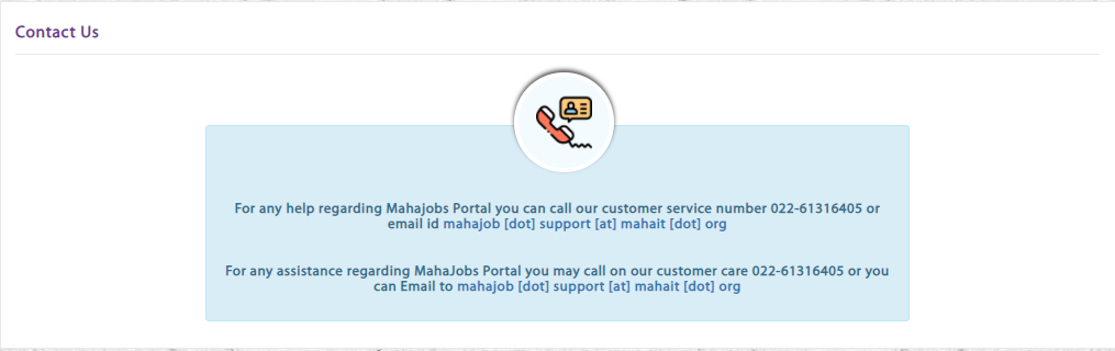 Mahajob Portal 2021: Registration