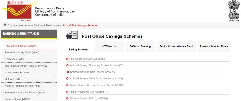 Post Office Saving Schemes 2021