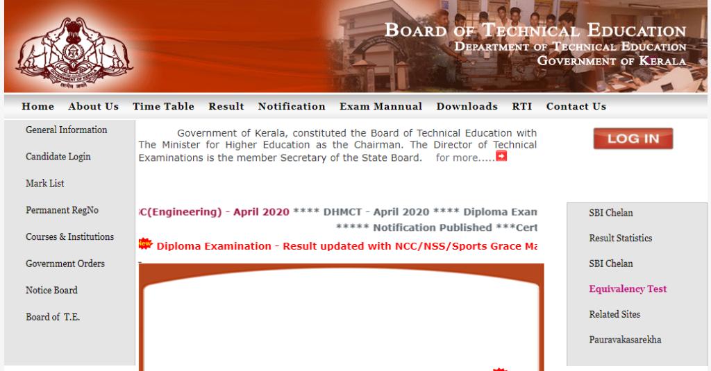 TE Kerala Diploma Time Table 2021