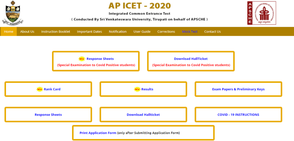 AP ICET First Phase Seat Allotment Results 2021