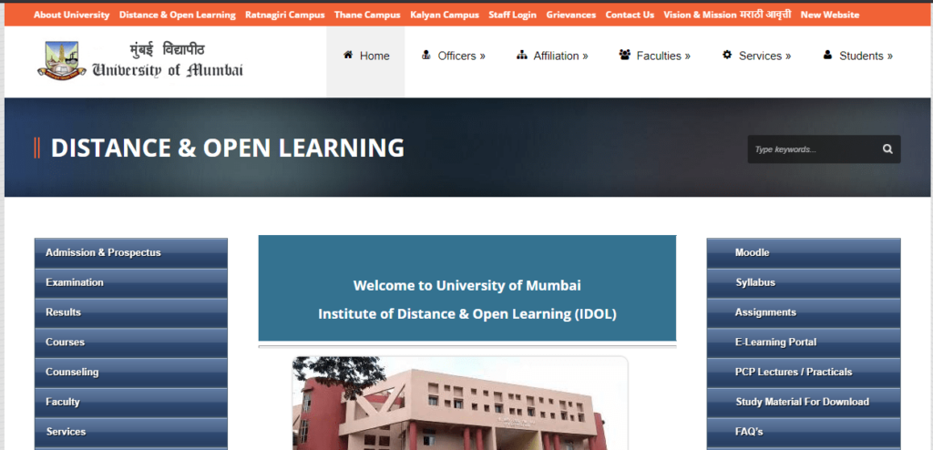 Mumbai University Distance Education Exam Scheme 2021