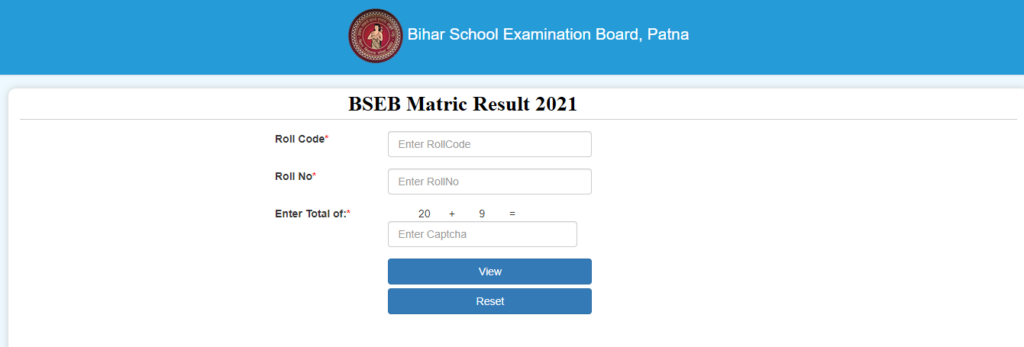 onlinebseb.in 10th Result 2021
