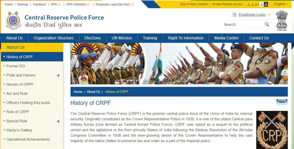 CRPF Para Medical Staff Admit Card 2021
