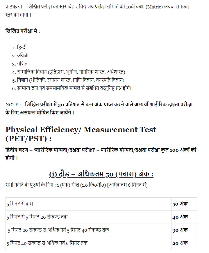 CSBC Fireman Syllabus PDF 2021 in Hindi