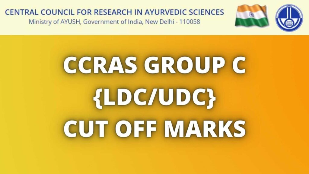 CCRAS Group C Cut Off Marks