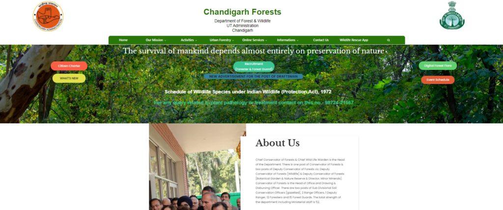 Chandigarh Forest Guard Syllabus 2021 Forest Exam Pattern chandigarhforest.gov.in