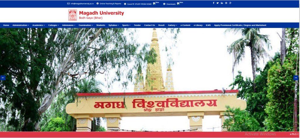 Magadh University Part I Date Sheet 2021 BA BCom BSc Exam Schedule