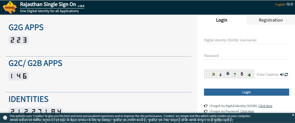 Raj SSO ID Registration 2021 SSO Login Online
