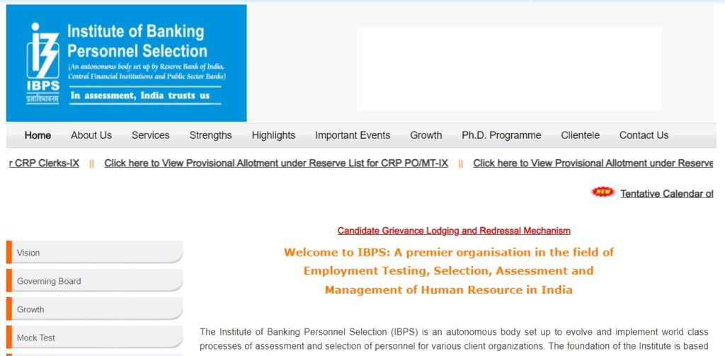IBPS Clerk Exam Date 2021 ibps.in Notification and Admit Card
