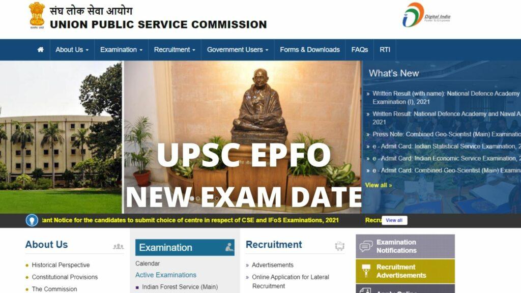 UPSC EPFO Exam Date
