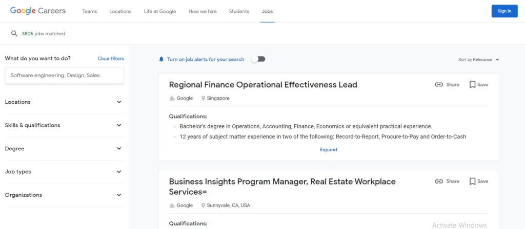 Google Recruitment 2021 Current Job Openings in India Apply Online