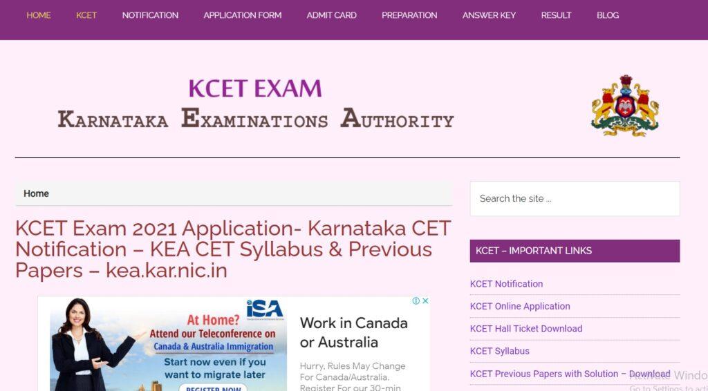 Karnataka CET Hall Ticket 2021 KARCET Admit Card Download
