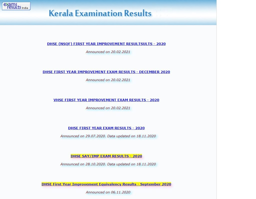 Kerala Plus Two Result 2021 School Wise Result Date