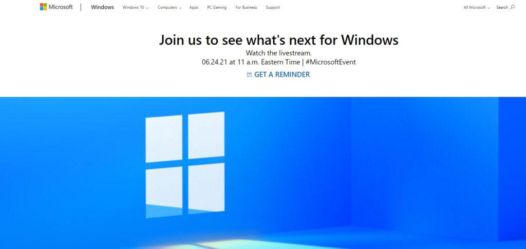 Windows 11 Live Event 24th June 2021 Watch Microsoft Windows 11 Event