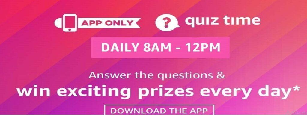 Amazon Quiz today. Answer these 5 Amazon Quiz & takeaway 15000 today. Amazon 28th June 2021 Quiz.