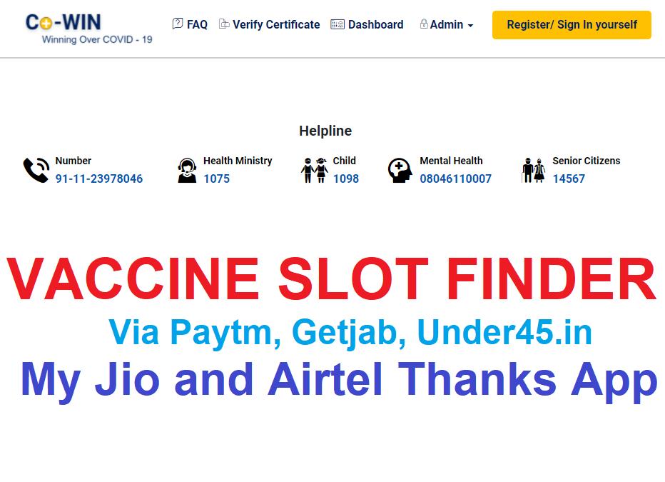 Vaccine Slot Finder