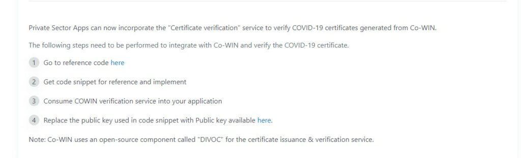 Cowin Certificate Verification