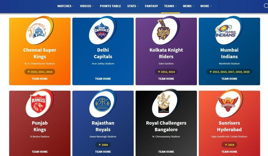 IPL Schedule 2021 - Dates, Venue, Match, Points table iplt20.com
