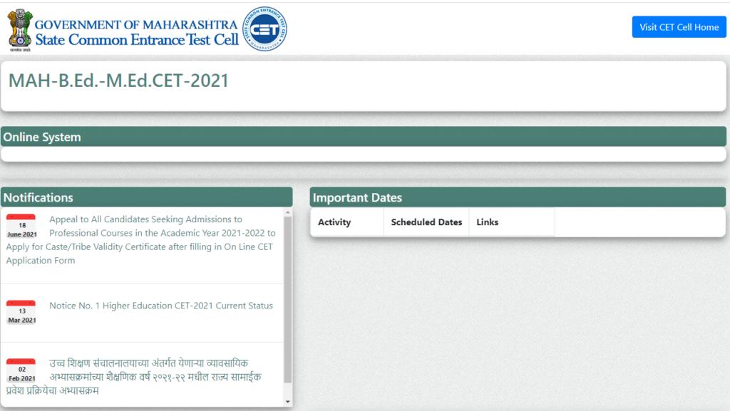 MAHA B.Ed CET Result 2021 mahacet.org MHT Merit List, Cut off Marks