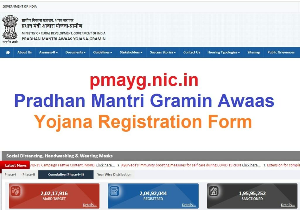 {pmayg.nic.in} PMAY 2021 Pradhan Mantri Gramin Awaas Yojana Registration Online Form, Eligibility, Benefits