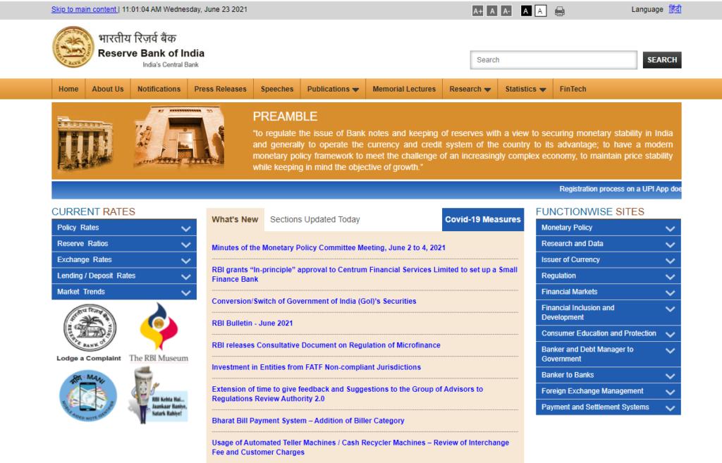 RBI Office Attendant Result 2021 Reserve Bank Of India OA Merit List @ rbi.org.in