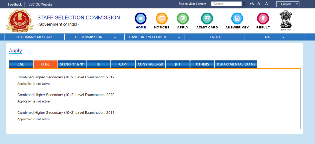 SSC CHSL Exam Date 2021 Tier 1-2-3 LDC DEO New Dates @ ssc.nic.in