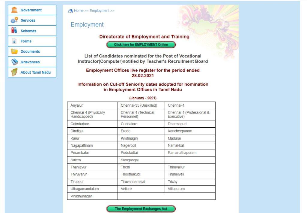 TNVelaivaaippu Registration 2021 Lapsed Renewal, TN Employment Exchange Login