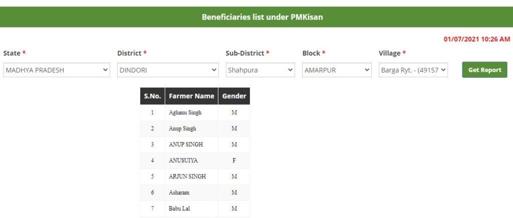 pmkisan.gov.in 9th beneficiary status