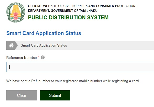 TNPDS Smart Ration Card Apply Online, Status Check, Application Form @ tnpds.gov.in