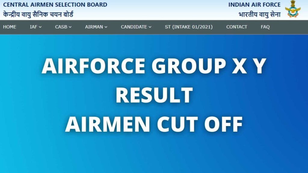 AIRFORCE GROUP X Y RESULT