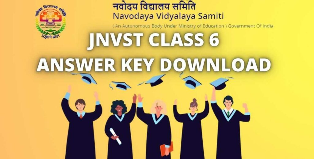 JNVST CLASS 6 ANSWER KEY