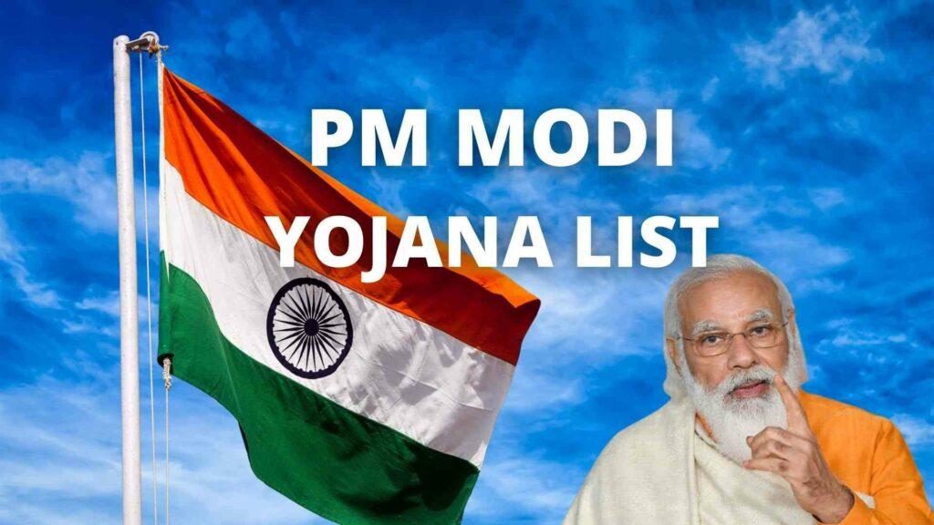 PM Modi Yojana List