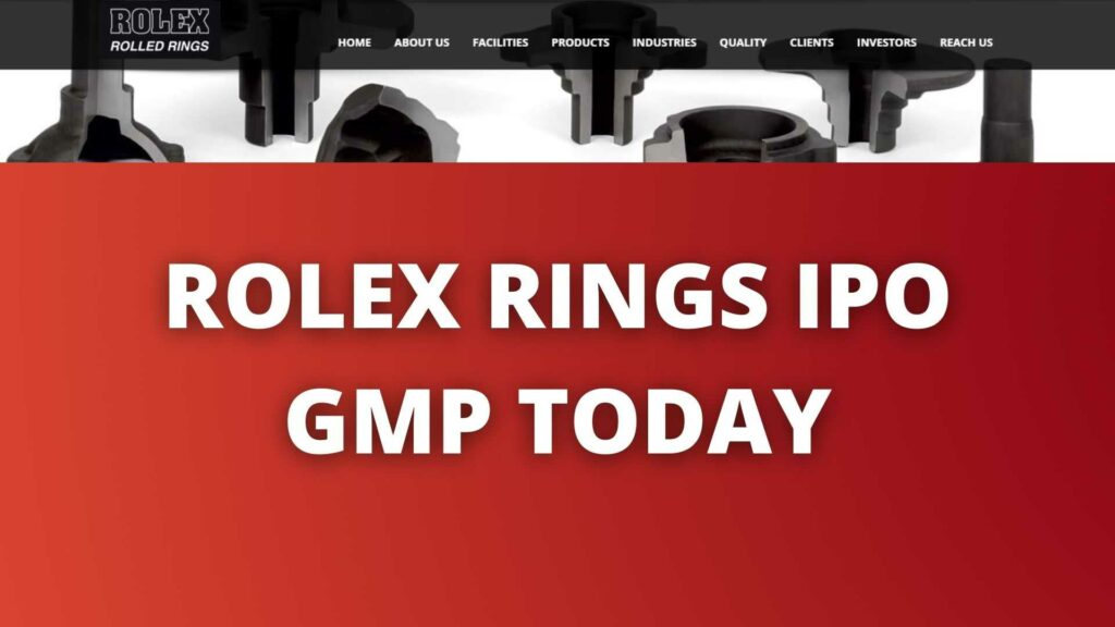 ROLEX RINGS IPO GMP TODAY