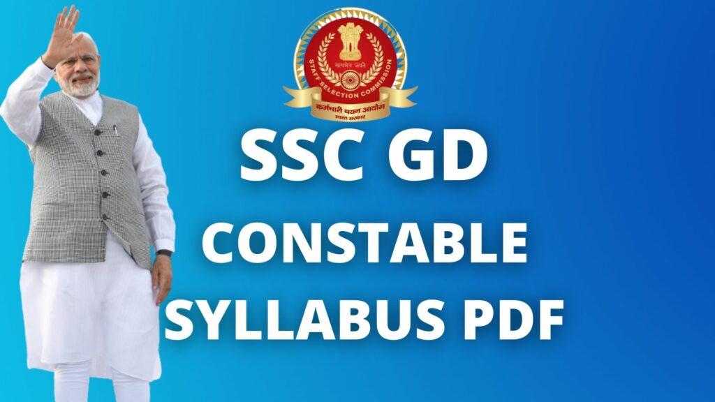 SSC DG Constable curriculum