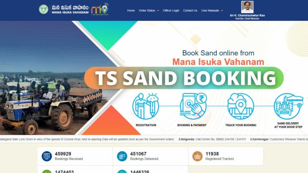 SSMMS TS Sand Booking Login tsmiv.cgg.gov.in