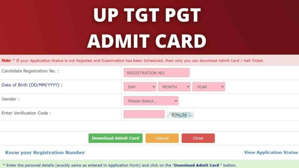 UP TGT PGT ADMIT CARD