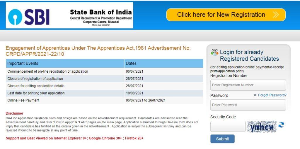 SBI Apprentice Recruitment 2021 Apply Online 6100 posts sbi.co.in
